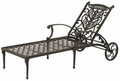 Grand Tuscany By Hanamint Luxury Cast Aluminum Patio Furniture Chaise Lounge