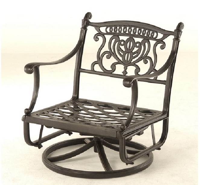 Grand Tuscany By Hanamint Luxury Cast Aluminum Patio Furniture Club Swivel Gl