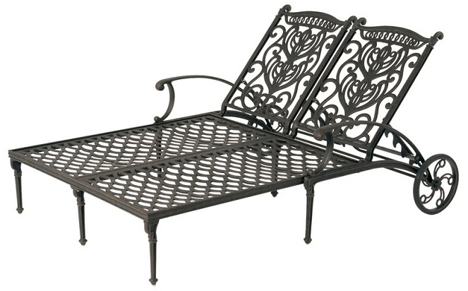 Grand Tuscany By Hanamint Luxury Cast Aluminum Patio Furniture Double  Chaise Lounge - Shop Grand Tuscany By Hanamint Luxury Cast Aluminum Patio