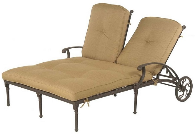 Shop Grand Tuscany By Hanamint Luxury Cast Aluminum Patio Furniture Double Ch