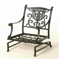 Grand Tuscany By Hanamint Luxury Cast Aluminum Patio Furniture Spring Base Club Chair