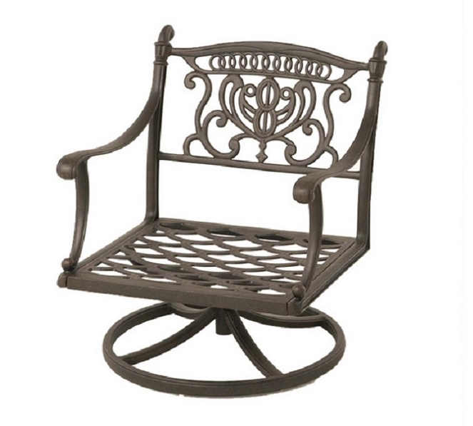 Grand Tuscany By Hanamint Luxury Cast Aluminum Patio Furniture Swivel Rocker