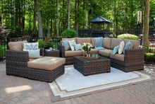 Gravati Collection 9-Piece All Weather Wicker Luxury Patio Furniture Deep Seating Set
