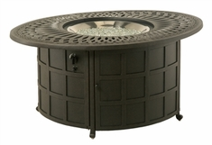 Hanamint Mayfair Outdoor Enclosed Oval Gas Fire Pit