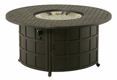 Hanamint Newport Outdoor Round Enclosed Gas Fire Pit