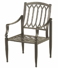 Lancaster By Hanamint Luxury Cast Aluminum Patio Furniture Stationary Dining Chair