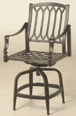 Lancaster By Hanamint Luxury Cast Aluminum Swivel Counter Height Chair
