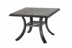 """Madrid By Gensun Luxury Cast Aluminum Patio Furniture 24"""" Square End Table"""