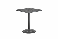 "Madrid By Gensun Luxury Cast Aluminum Patio Furniture 30"" Square Pedestal Dining Table"