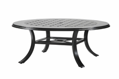 """Madrid By Gensun Luxury Cast Aluminum Patio Furniture 48"""" Round Chat Table"""