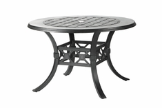 "Madrid By Gensun Luxury Cast Aluminum Patio Furniture 60"" Round Dining Table"