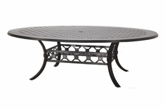 "Madrid By Gensun Luxury Cast Aluminum Patio Furniture 60"" x 80"" Geo Dining Table"