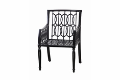 Manhattan By Gensun Luxury Cast Aluminum Patio Furniture Stationary Dining Chair