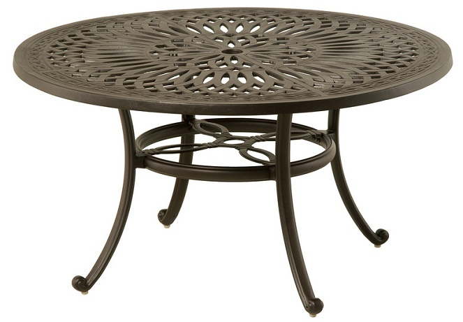 Mayfair By Hanamint Luxury Cast Aluminum 54quot Round Dining  : mayfair by hanamint luxury cast aluminum 54 round dining table w inlaid lazy susan 7 from www.openairlifestylesllc.com size 663 x 461 jpeg 96kB