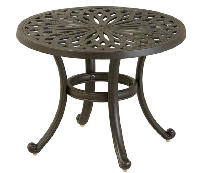 "Mayfair By Hanamint Luxury Cast Aluminum Patio Furniture 24"" Round Tea T"