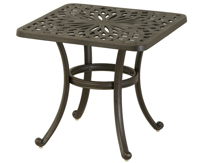 "Mayfair By Hanamint Luxury Cast Aluminum Patio Furniture 24"" Square End"