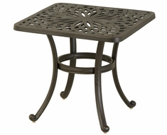 """Mayfair By Hanamint Luxury Cast Aluminum Patio Furniture 24"""" Square End Table"""