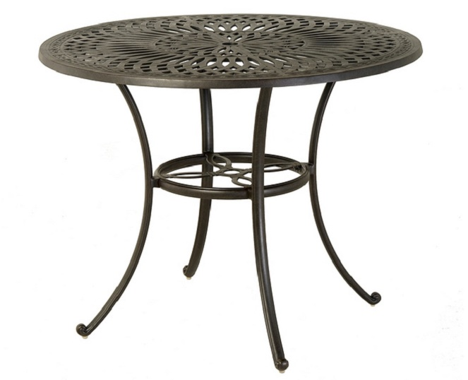 "Mayfair By Hanamint Luxury Cast Aluminum Patio Furniture 48"" Round Count"