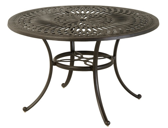 "Mayfair By Hanamint Luxury Cast Aluminum Patio Furniture 54"" Round Count"