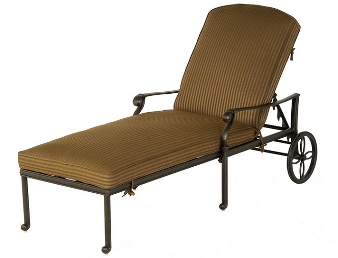 Shop Mayfair By Hanamint Luxury Cast Aluminum Patio Furniture Chaise Lounge
