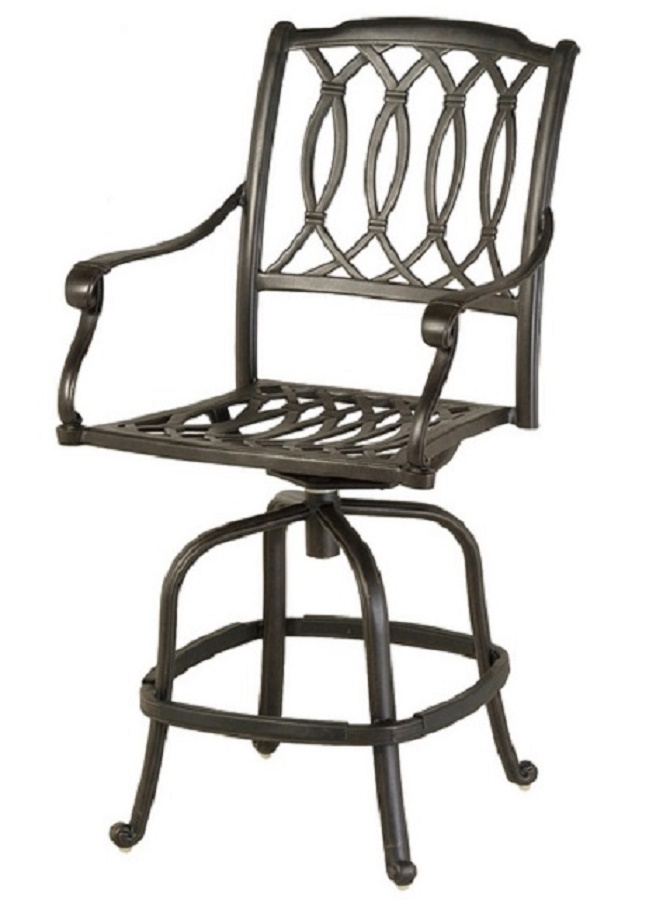 Mayfair By Hanamint Luxury Cast Aluminum Patio Furniture Swivel Counter Heigh