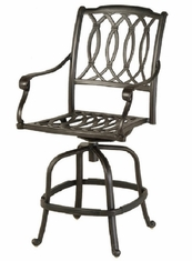 Mayfair By Hanamint Luxury Cast Aluminum Patio Furniture Swivel Counter Height Chair
