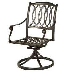 Mayfair By Hanamint Luxury Cast Aluminum Patio Furniture Swivel Dining Chair