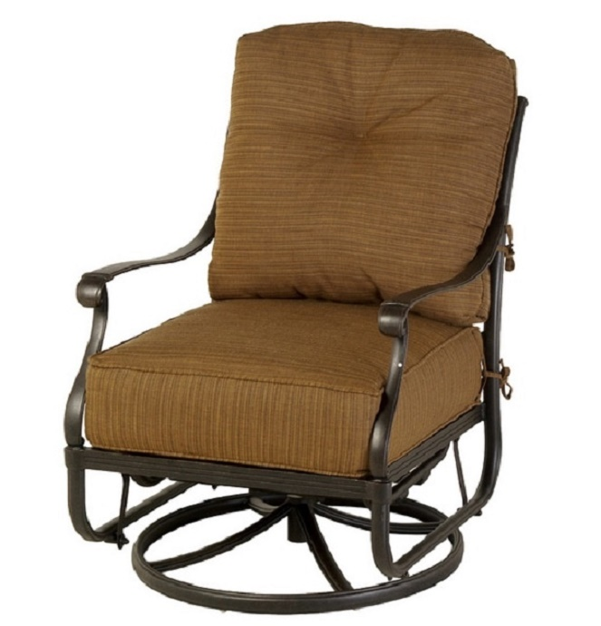 Mayfair By Hanamint Luxury Cast Aluminum Patio Furniture Swivel Glider Club C