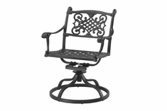 Michigan By Gensun Luxury Cast Aluminum Patio Furniture Swivel Dining Chair