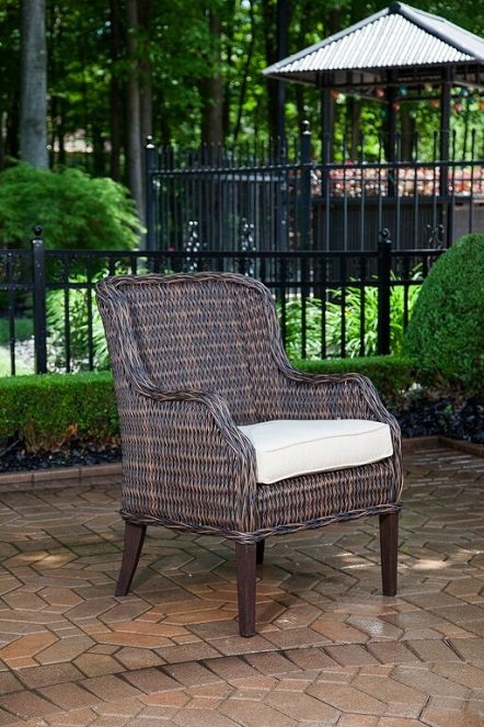 Mila Collection 6 Person All Weather Wicker Luxury Patio Furniture Dining Set