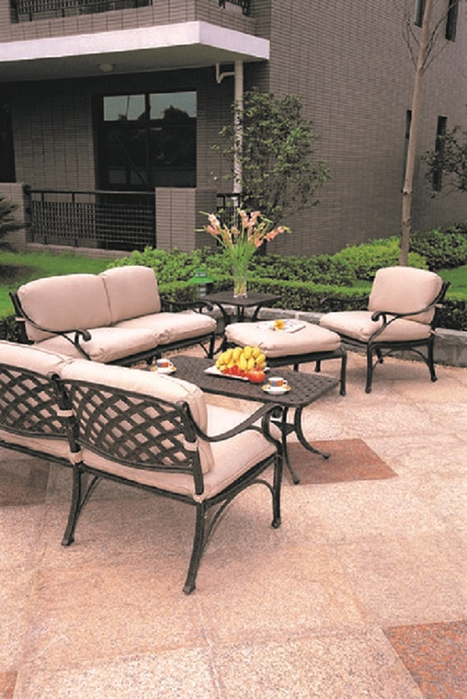 Deep Seating Patio Furniture Cushions: Newport By Hanamint 6-Piece Luxury Cast Aluminum Patio