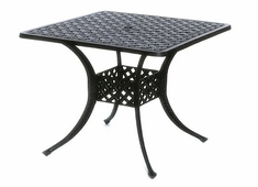 "Newport By Hanamint Luxury Cast Aluminum Patio Furniture 36"" Square Dining Table"