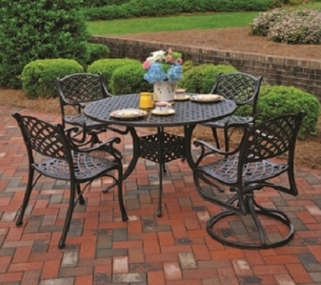 hanamint luxury cast aluminum patio furniture 42 round dining table