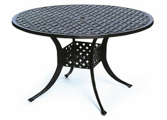 "Newport By Hanamint Luxury Cast Aluminum Patio Furniture 48"" Round Dining Table"