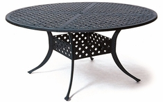 "Newport By Hanamint Luxury Cast Aluminum Patio Furniture 60"" Round Dining Table"