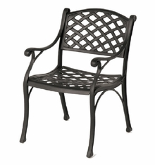 Newport By Hanamint Luxury Cast Aluminum Patio Furniture Stationary Dining Chair