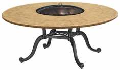 """Paradise Cast Aluminum 54"""" Round Chat Height Outdoor Wood Burning Fire Pit"""