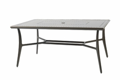 "Phoenix By Gensun Luxury Cast Aluminum Patio Furniture 42"" x 63"" Rectangle Dining Table"