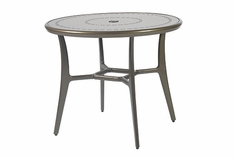 "Phoenix By Gensun Luxury Cast Aluminum Patio Furniture 48"" Round Dining Table"