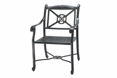 San Marino By Gensun Luxury Cast Aluminum Patio Furniture Stationary Dining Chair