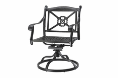San Marino By Gensun Luxury Cast Aluminum Patio Furniture Swivel Dining Chair