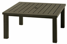"""Sherwood By Hanamint Luxury Cast Aluminum Patio Furniture 44"""" Square Coffee Table"""
