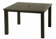 "Sherwood By Hanamint Luxury Cast Aluminum Patio Furniture 44"" Square Dining Table"