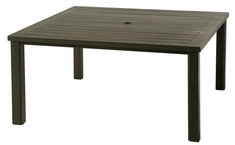 "Sherwood By Hanamint Luxury Cast Aluminum Patio Furniture 60"" Square Dining Table"
