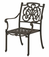 St. Augustine By Hanamint Luxury Cast Aluminum Patio Furniture Stationary Dining Chair