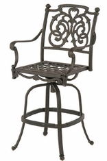 St. Augustine By Hanamint Luxury Cast Aluminum Patio Furniture Swivel Bar Height Chair