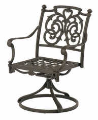 St. Augustine By Hanamint Luxury Cast Aluminum Patio Furniture Swivel Dining Chair