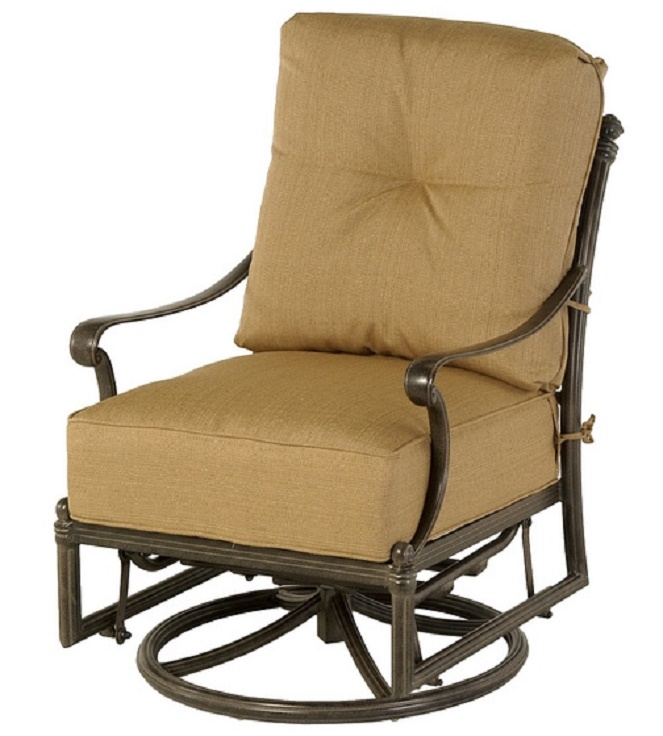 St Augustine By Hanamint Luxury Cast Aluminum Patio Furniture Swivel Glider