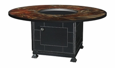 """Stained Glass 54"""" Round Outdoor Gas Fire Pit"""
