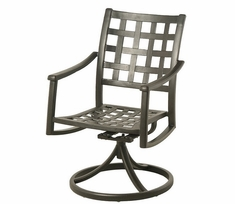 Stratford By Hanamint Luxury Cast Aluminum Swivel Dining Chair